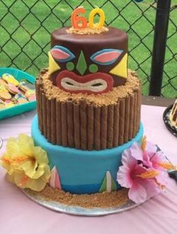 Tiki-tiki Birthday Cake